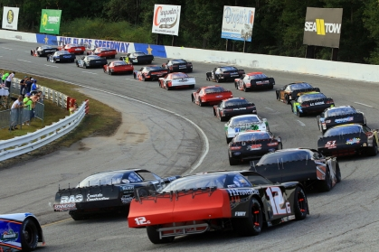 The front 12 rows of the grid line up for their pace laps. (David Kranak/ Impact Zone Photos)