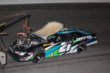 Super Late Model rookie Trey Bayne saw his Speedweeks end after the second night. (Mike Lysakowski/ Motorsport Aspects)