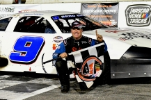 Brad May scored his first Speedweeks Super Late Model victory since joining car owner Bobby Sears four years ago. The combination had won several times in Pro Late Model action in previous World Series. (Kim Kemperman photo)