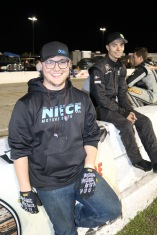 Super Late Model driver Jared Irvan (right) had crew help on the final night from former NASCAR K&N Pro East Series and USAR Pro Cup driver Reid Wilson (left).