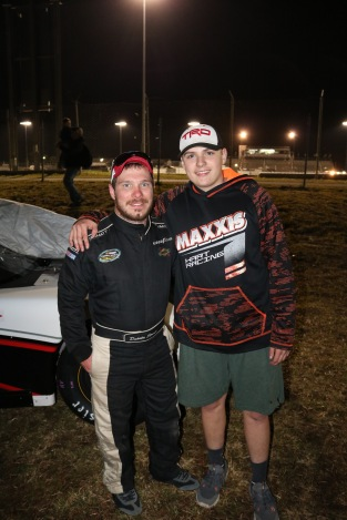 Former Pro Late Model champion and new chassis builder Dakota Stroup (left) mentored rookie Sam Johnson.