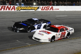 Pro Late Model drivers who peaked with fourth-place finishes: Hunter Wright (29) and Brandon Brilliant (12) - Kim Kemperman photo