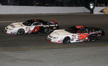 Pro Late Model champion Jamie Skinner (5) and his top teammate Hayden Sprague (51) - Todd Ridgeway photo