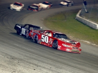 Pro Late Model race winners Jett Noland (50) and Nicholas Naugle (08) - Michael Fettig/Action Shots Photography