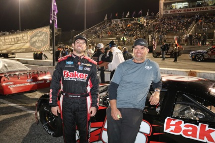 "Gus Dean's primary Florida Speedweeks mission was his ARCA Menards Series and NASCAR Gander Outdoors Truck Series starts at Daytona International Speedway, but he found time to run three Super Late Model races at New Smyrna in a car tuned by David ""Buggy"" Pletcher (Jim Carson photo)"