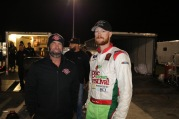 Pro Late Model champion Jamie Skinner with his second full-week protege Christian Rose (Jim Carson photo)