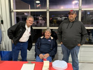 Longtime pavement Late Model crew chief Jeff Mintz (right) is now the race director at Toccoa Raceway. Former Lanier National Speedway and New Smyrna Speedway general manager Terry Roberts (center) is now Toccoa's marketing man. They're shown with Billy Power, who is in charge of facilities.